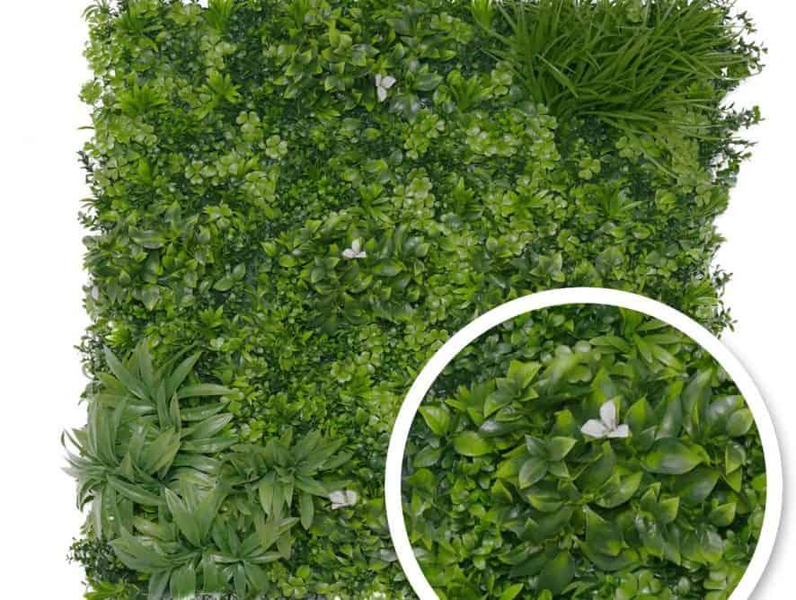 Mur végétal synthétique Liseron blanc