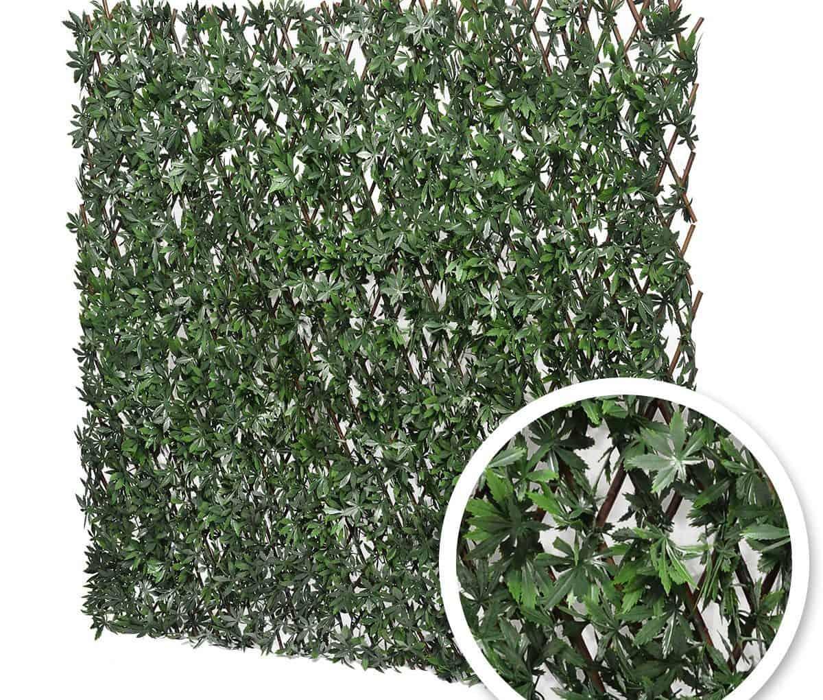 Treillis extensible feuilles de vigne vierge